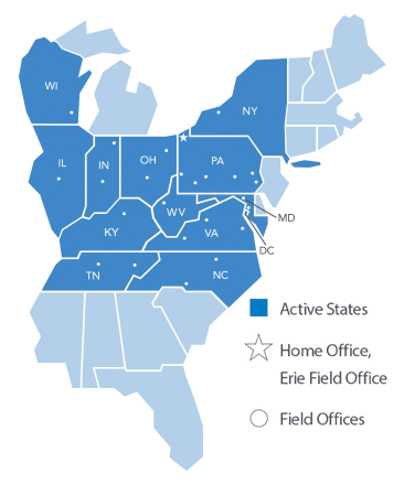 Erie Insurance Active States & Field Offices
