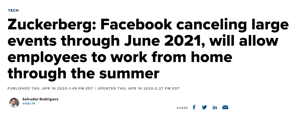 facebook canceling larger events